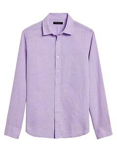 Untucked Standard-Fit Linen-Cotton Shirt