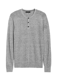 Silk Linen Henley Sweater