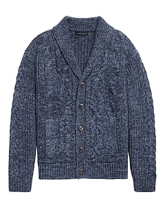 Heritage Cable-Knit Cardigan Sweater