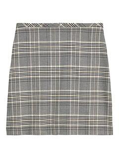 Petite Plaid Mini Skirt
