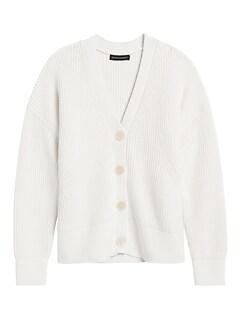 Chunky Ribbed Cardigan Sweater