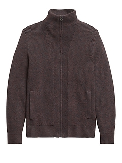 Heritage Ribbed Sweater Jacket