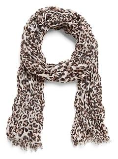 Leopard Print Lightweight Rectangular Scarf