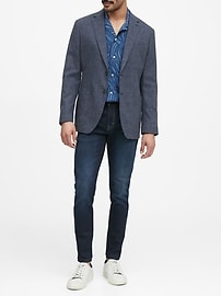 Slim Cotton-Blend Blazer