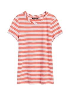 Slub Cotton-Modal Stripe T-Shirt