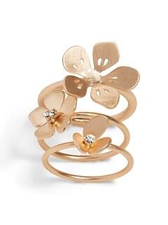 Floral Stack Ring Set
