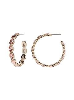 Grandes boucles d'oreilles anneaux à bijou