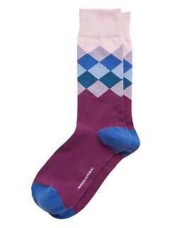 Blocked Argyle Sock