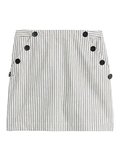 Bi-Stretch Sailor Mini Skirt