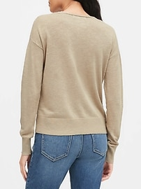 Relaxed Linen-Blend Sweater