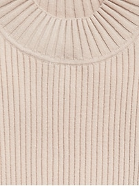 Ribbed Mock-Neck Sweater Top