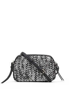 Tweed Double-Zip Camera Crossbody