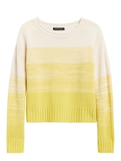 Cashmere Ombré Cropped Sweater