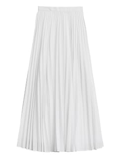 Pleated Poplin Maxi Skirt