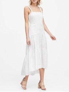 Poplin Tiered Maxi Dress
