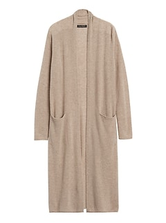 Cashmere Duster Cardigan Sweater
