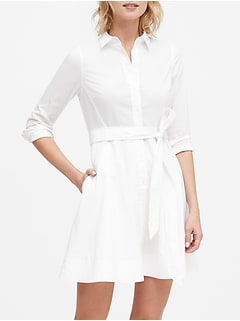 Petite Poplin Shirt Dress