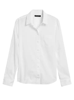 Petite Quinn Straight-Fit Cotton-Linen Shirt