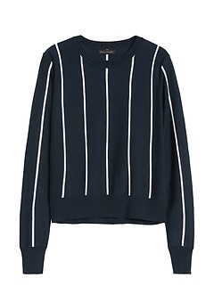 Silk Cotton Cropped Sweater