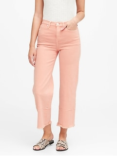 High-Rise Wide-Leg Cropped Jean
