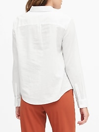 Quinn Straight-Fit Cotton-Linen Shirt