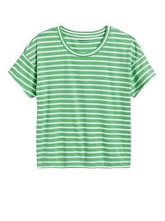 SUPIMA® Cotton Boxy Cropped T-Shirt
