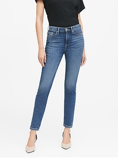 Petite High-Rise Straight-Fit Ankle Jean