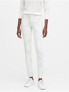 Mid-Rise Skinny Tie-Dye Jean