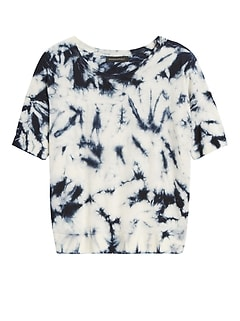 Petite Merino-Blend Tie-Dye Sweater
