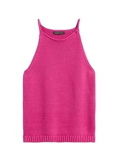 Halter-Neck Sweater Tank