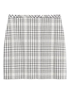 Plaid Bi-Stretch Mini Skirt