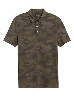 Luxury-Touch Camo Polo
