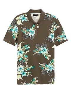 Don't-Sweat-It Floral Polo