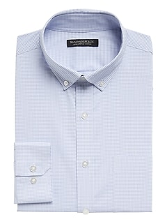 Slim-Fit Tech-Stretch Cotton Shirt