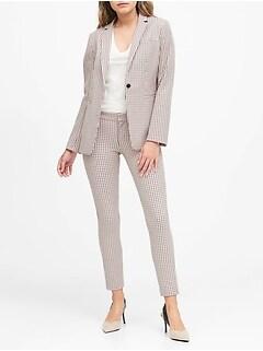 Petite Long & Lean-Fit Plaid Blazer