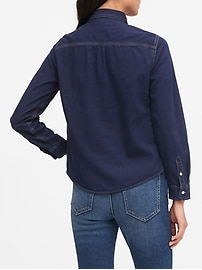 Quinn Straight-Fit Denim Shirt