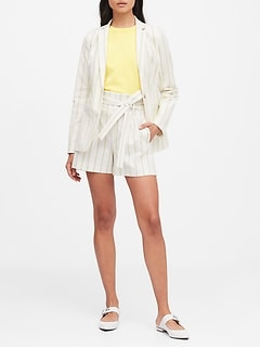 Petite Long & Lean-Fit Stripe Blazer