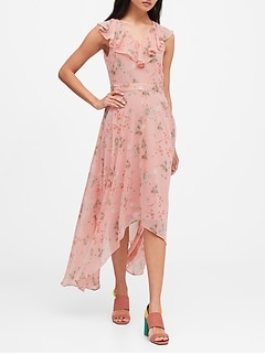 Petite Ruffle Maxi Dress