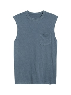 Vintage 100% Cotton Muscle Tank