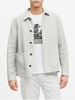 Linen-Cotton Chore Coat