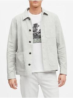 Linen-Cotton Chore Coat