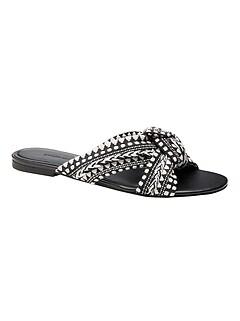 Twisted Fabric Slide Sandal