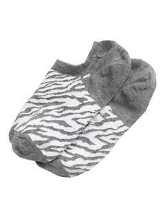 Zebra No-Show Sneaker Sock