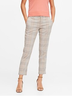 Avery Straight-Fit Linen-Cotton Ankle Pant
