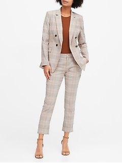 Slim Double-Breasted Linen-Cotton Blazer