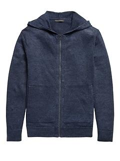Linen Sweater Hoodie