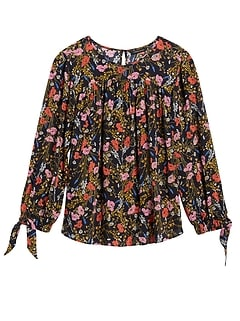 Petite Puff-Sleeve Swing Top