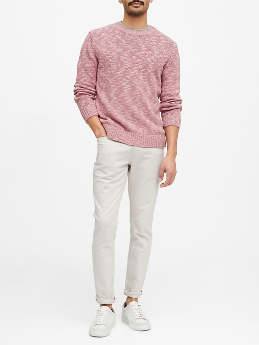 Cotton-Linen Blend Sweater