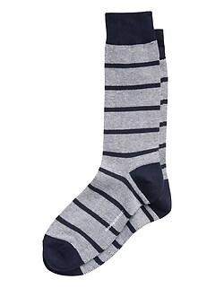 Chaussettes rayées œil de perdrix