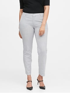 Curvy Ryan Slim Straight-Fit Washable Wool-Blend Pant